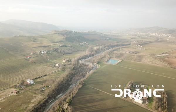 ispezioni con drone monitoraggio ambientale fiumi canali parchi